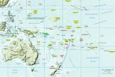 Australasia Map